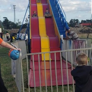 super slide potato sack ride amusement