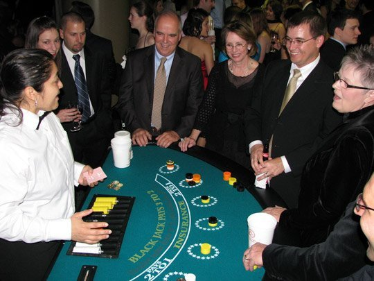 black jack table casino rental houston