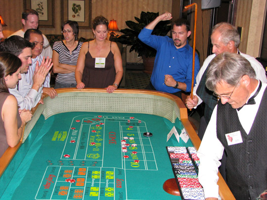 craps table casino rental houston