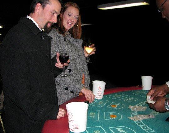 texas holdem table casino rental