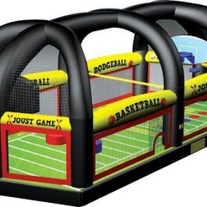 all in one sports arena dodgeball joust twister