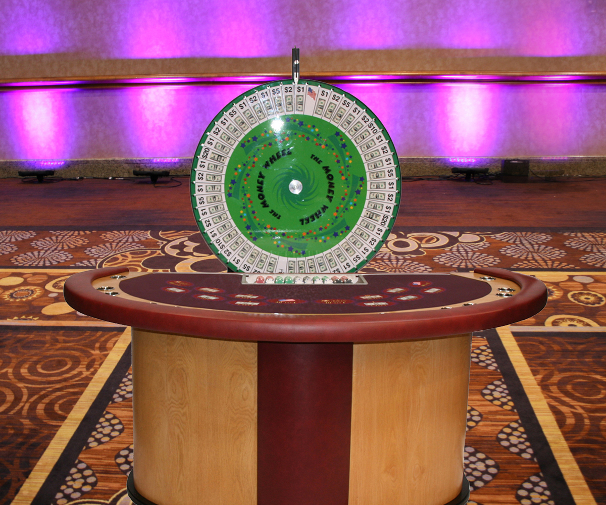 money wheel table rental houston